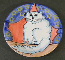 1995 Made In Italy Cat Kitten New Years Celebration Party Plate Macy's Cellar