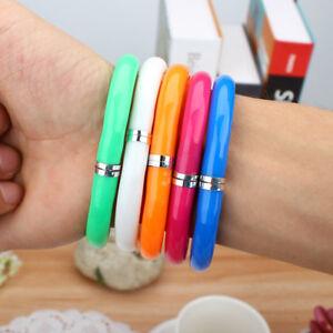 5 PCS Flexible Cute Soft Plastic Bangle Bracelet Ballpoint Pens