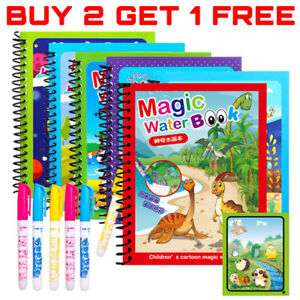 Water Drawing Book Magic Doodle Coloring Book Learning Painting & Pen For Kids
