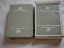 Vintage UNITED AIRLINES PLAYING CARDS White on Grey