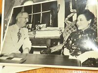 President Roosevelt with Asian lady,  WW2 original press photo