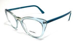 Prada VPR 07V 325-1O1 Light Blue Women's Authentic Eyeglasses Frame 51-20