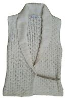 Brunello Cucinelli Cashmere Womens Sweater Vest Loose Weave Boho Chic Open Front