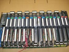 ALLEN BRADLEY 1771AD 16-SLOT CHASSIS with 16 MODULES