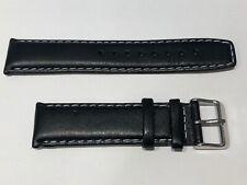 TOMMY HILFIGER - Black Leather Strap - 21 mm - Correa de Piel Negra
