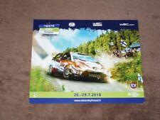Esapekka LAPPI - (2018) Toyota Yaris WRC, Karte/card cca 11x16 cm