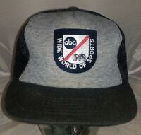 Vintage ABC Wide World Of Sports Hat Cap Snapback Ball Cap One Size Fits All A2