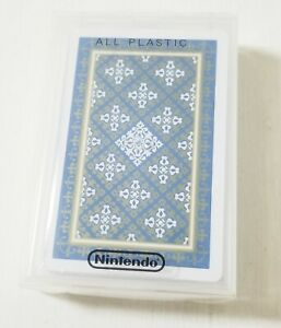 Nintendo Playing Cards NAP 622 Blue Brand New All Plastic Japan 0615A7