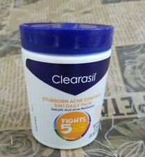 Clearasil 5 in 1 Acne Daily Face Wash Pads 90 Count Stubborn Acne Problems