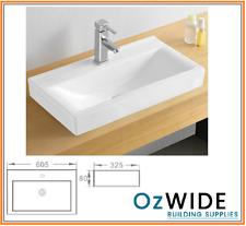 Ceramic Basin Above Counter  Narrow Design Powder Room Bathroom Vanity 605x325mm