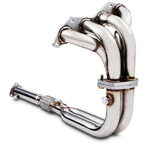 STAINLESS DE CAT BYPASS EXHAUST MANIFOLD DOWNPIPE FOR HONDA CIVIC EP2 1.4 1.6