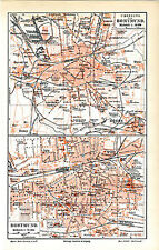 Dortmund Stadtplan Originale Karte Format 16x25cm von 1902 + Register + Text M6