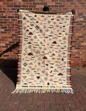MOROCCAN KILIM RUG , Handmade, 185 X 120 cm Wool, Artisan , Pattern, Area, Auth