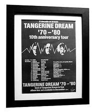 TANGERINE DREAM+Tour+POSTER+AD+RARE ORIG 1980+QUALITY FRAMED+EXPRESS GLOBAL SHIP