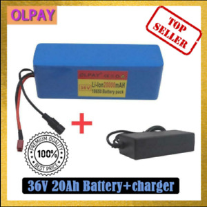 36v 20ah E-bike Li-ion Battery Volt Rechargeable Bicycle 500w Electric + Charger