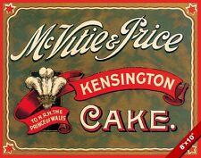 VINTAGE MCVITIE & PRICE KENSINGTON CAKE OLD AD POSTER FOOD ART REAL CANVAS PR