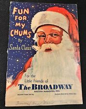 The Broadway Store 1932 Vintage Christmas Giveaway Booklet Fun for My Chums used