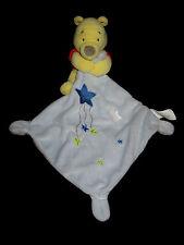 Doudou Winnie the Pooh carré bleu étoiles Disney Baby Simba Nicotoy