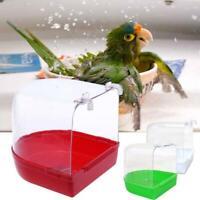 Birds Bathtub Bath Clean Box Toy Accessory for Budgies Canary Finches Cage