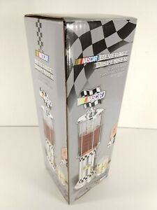 """NASCAR Beverage Dispenser Silver Finish 18"""" Tall with 32 Oz Capacity - Gas Pump"""