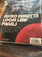 """Acco Micro Diskette Loose Leaf Panels For Three Ring Binders Set Five 3.5"""" Disks"""
