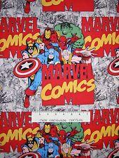 Marvel Immortals Hulk Iron Man Spiderman Comic - Camelot Fabrics YARD