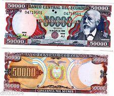 Equateur ECUADOR BILLET 50000 Sucres 1999 P130 ELOY ALFARO UNC NEUF