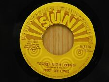 Jerry Lee Lewis 45 Good Night Irene / Can't Seem To Say Goodbye - Sun VG+