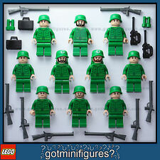 LEGO® FLESH ARMY MEN soldiers minifigures weapons rifle guys NEW LOT people x10