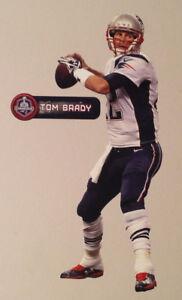 "Tom Brady FATHEAD Super Bowl XLIX Champions 11.5"" Graphic +NAME SIGN Patriots"