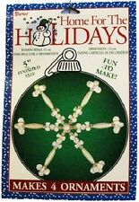 "Darice 'Home For The Holidays' 5"" Beaded Snowflake Ornament Craft Kit (Makes 4)"