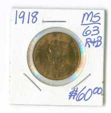 1918 CANADA ONE CENT PENNY RED AND BROWN BU LUSTRE !!