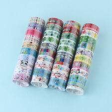 10Pcs Washi Tape Set Paper Self Adhesive Stick On Sticky Craft Decorative DIY