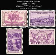 Scott # 772 - 775 1935 Commemorative Year Set Mint NH