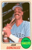 1993 Baseball Card Magazine '68 Topps Replicas Baseball BBC22 Juan Gonzalez