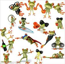 1 X 3D Peep Frog Funny Car Stickers Truck Window Decal Graphics Sticker Decals