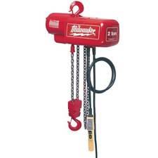 Milwaukee 9568 1 Ton Capacity 20 Foot Lift Electric Chain Hoist