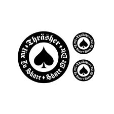 Stickers Thrasher live to ride - skate or die