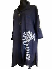 Leinene 3/4 Arme Damenblusen,-Tops & -Shirts im Blusen-Stil mit Klassischer Kragen