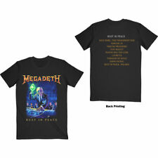 MEGADETH Rust In Peace Tracklist T-SHIRT NEW S M L XL XXL official band