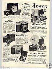 1957 PAPER AD Ansco Speedex Travel Camera Ready Flash Super Regent Argus Mini