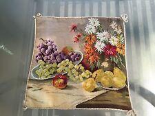 Woollen Needle Point Pillow Case Fruits