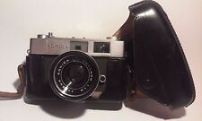 Camera Konica Auto S2 Hexanon 45 MM Lens With Leather Case Japan