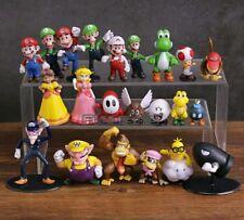 Super Mario Bros familia Mini PVC figuras juguetes 22 unids/medidas 3 cm 8 cm