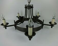 Solid Brass Chandelier Brooklands Gothic 5 Up Light Handmade Period Lighting