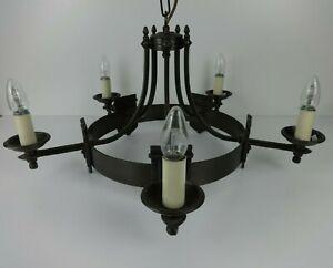 Solid Brass Chandelier Brooklands Gothic 5 Up Light Handmade Period Lighting