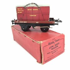 """Hornby Trains Low Sided Wagon """"Furniture"""" O Gauge 42159 Boxed A/F"""