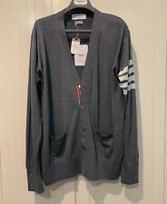 Thom Browne Cardigan V-neck in Fine Merino Wool, L