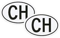 Zwei Stück Schweiz CH Kennzeichen Kleber Aufkleber Schild 13,5 cm RICHTER / HR