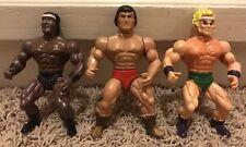 3x 1980's Knock Off He-Man MOTU FIgures - Nice Shape - Galaxy Fighters, Warriors